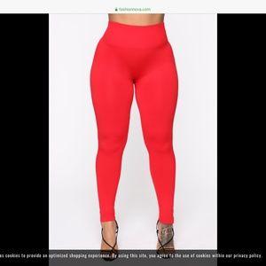 Fashion Nova Pants - Red leggings
